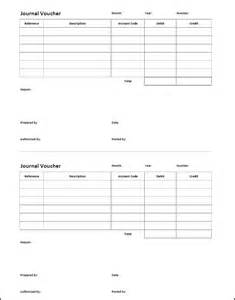 journal voucher template double entry bookkeeping