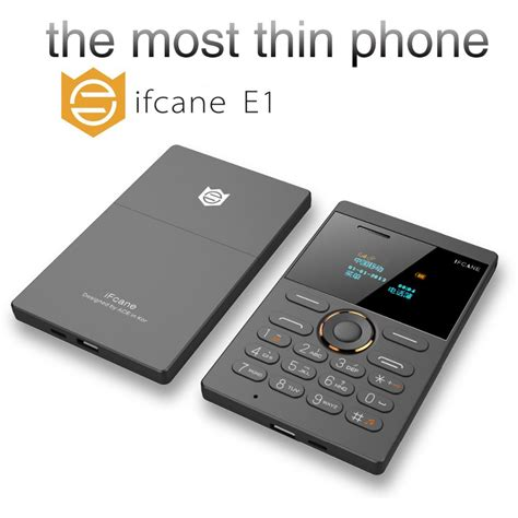 Ifcane E1 Card Phone Ultra Thin 2015 new and shock ifcane e1 mini cell phone