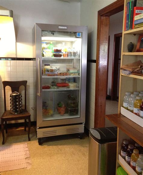 Refrigerator With Glass Doors For Homes Simple Glass Door Refrigerator Use For A Small Living Space Traba Homes