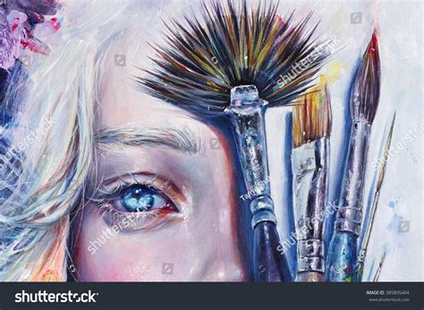 acrylic painting hair realistic acrylic painting of a s beautiful half