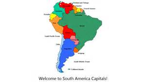 best photos of map of south america countries and capitals