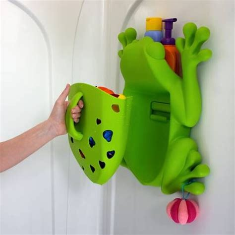 bathtub toy holder boon frog pod bath toy holder scoop drain and store
