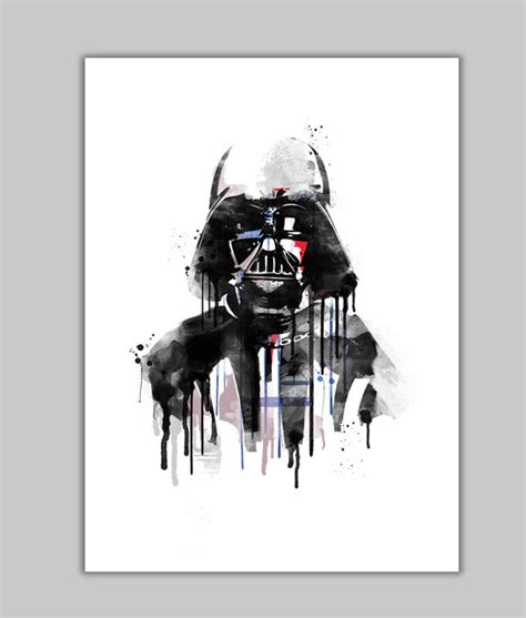 cool star wars watercolor prints sci fi design