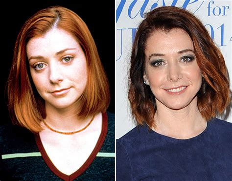 Now And Then Alyson Hannigan Goes by Alyson Hannigan As Willow In Buffy The Slayer