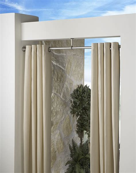 outdoor drapery rods indoor outdoor extension curtain rod 1 quot diameter