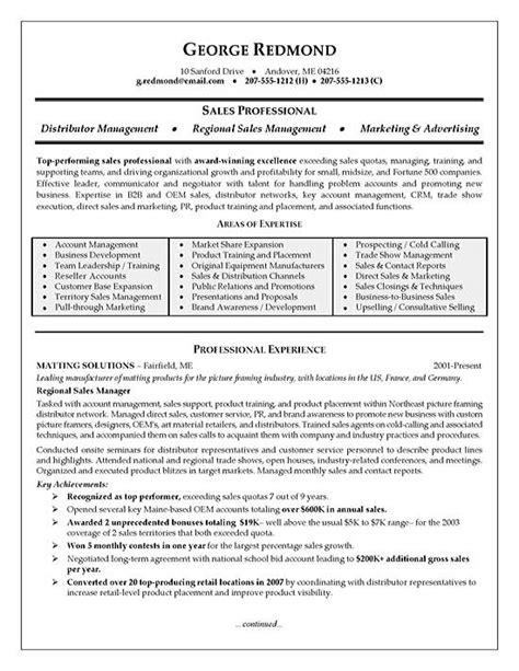 executive resume sles 2016 sales manager resume exles resume badak