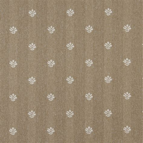 Country Upholstery Fabric by Light Brown And Ivory Leaves Country Upholstery Fabric By