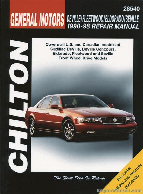 service and repair manuals 1993 cadillac seville head up display chilton cadillac deville fleetwood eldorado seville 1990 1998 repair manual