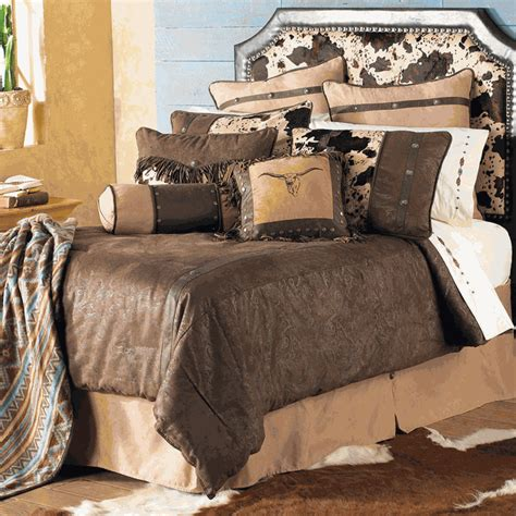 western bedding king size caldwell cowhide bed set lone
