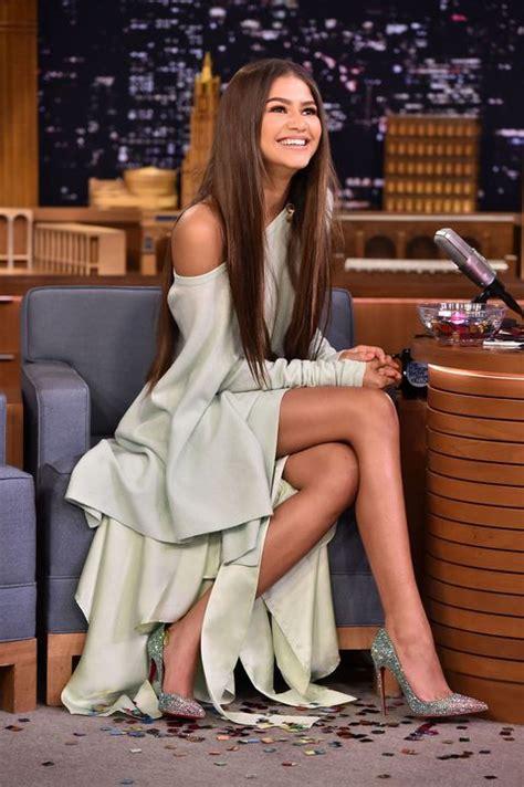 lil pump zendaya zendaya wears amazing christian louboutin sparkle heels on