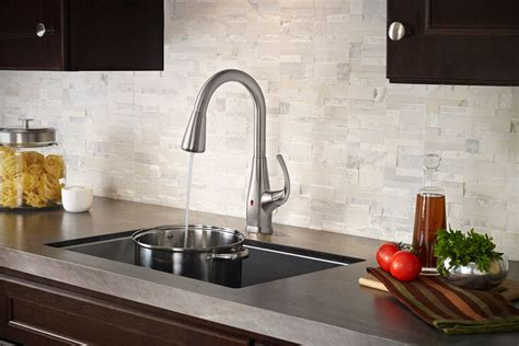 touch free faucets kitchen pfister react brings touch free faucet to your kitchen