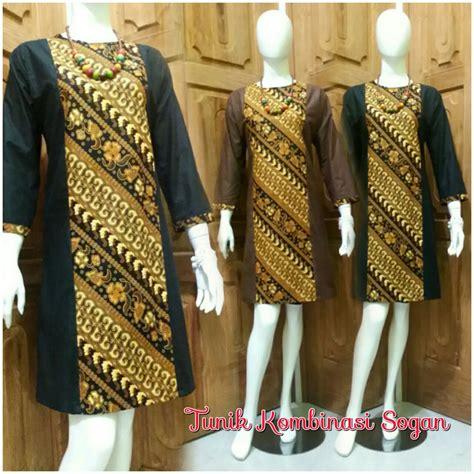Baju Tunik Jumbo jual batik wanita tunik sogan baju batik kantor batik