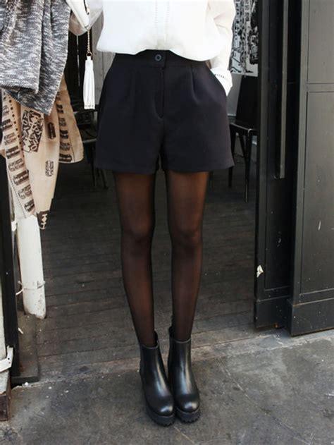 shorts black and white black shorts black tights