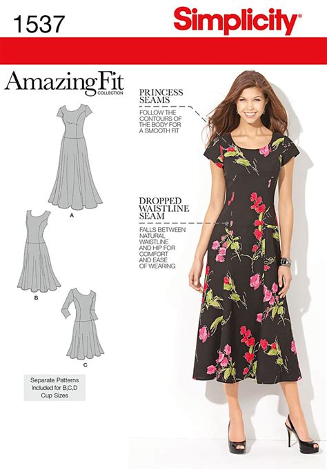 simplicity pattern website simplicity 1537 misses and plus size amazing fit dress