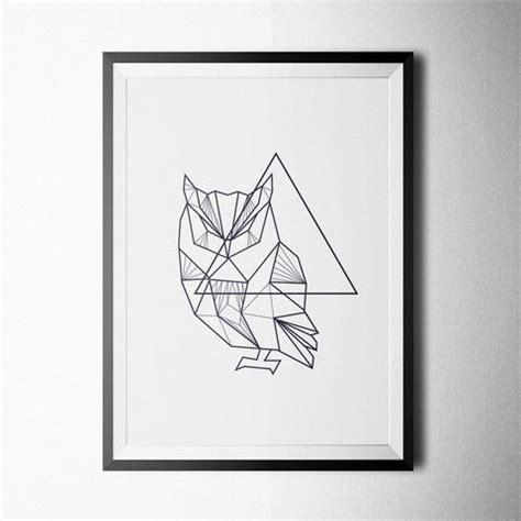 minimalist tattoo owl minimal geometric owl buy first art print https www