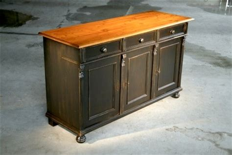 painted black pine wood buffet farmhouse buffets and