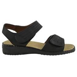 womens velcro comfort wide casual walking flat
