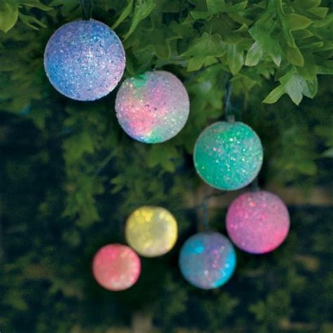 Solar Light Balls Outdoor Solar Colour Change Stringlights
