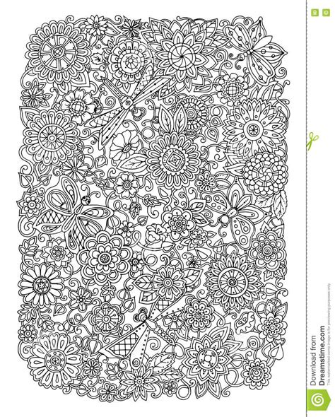 colouring book for adults south africa ethnic floral zentangle doodle background pattern circle