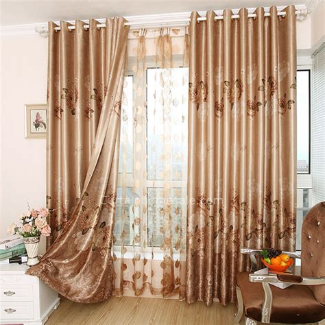 elegant drapes fancy noise reducing floral embroidery elegant cool window