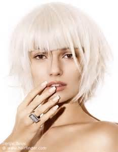 haircuts for white hair pearl colored bob with blunt cutting lines white hair