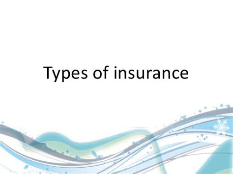 Insurance Mba In India by Types Of Insurance By Shamsikadalur Mba