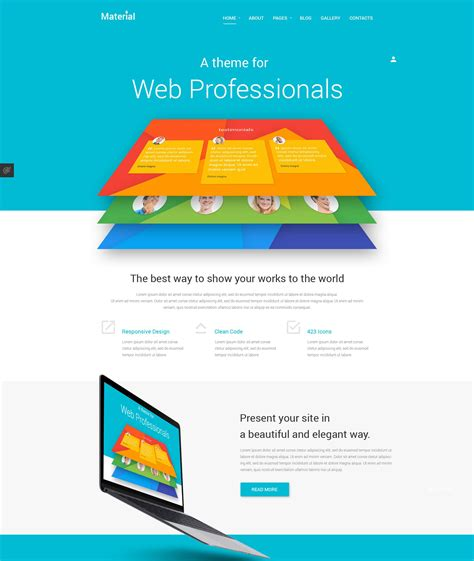 Template Joomla Material Design | templatemonster s material joomla template review