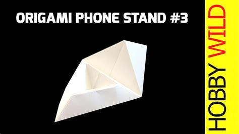 origami phone holder how to make a paper phone stand phone holder design 3