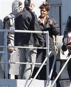 Halle Berry Warms Up by Halle Berry Wraps Up As She Continues Filming Sci Fi Tv