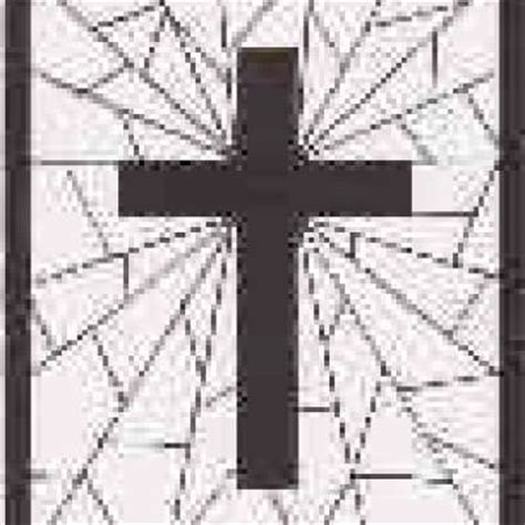 stained glass cross coloring page tip junkie