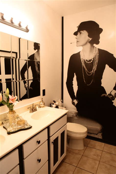 coco chanel bathroom coco chanel inspired bathroom by sarah f gordon professional organizer home