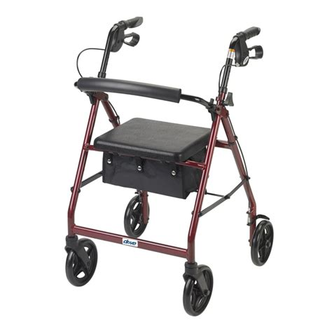 folding rollator walker with seat rollator walker with fold up removable back support