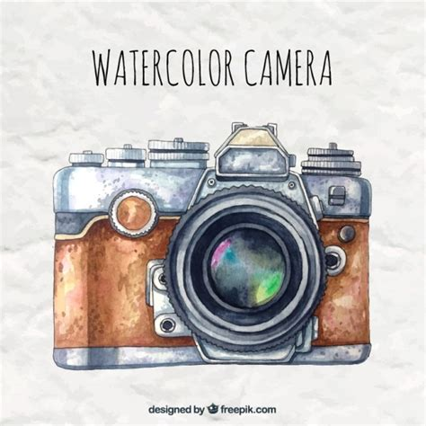 imagenes vintage camaras watercolor camera in retro style vector free download