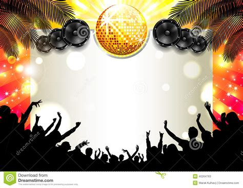 music summer background vector stock vector image