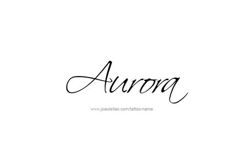 aurora tattoo design name 13 png