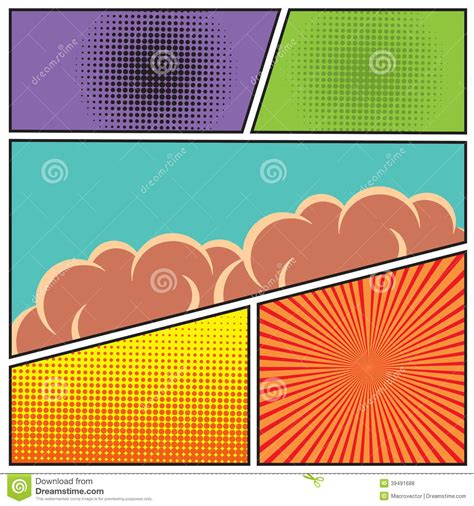 comic book layout vector 19 comic book dots background vector images comic book