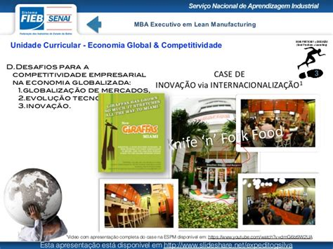 Food Manufacturing Mba by Economia Global Competitividade Mba Lean Manufacturing