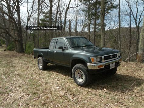 1992 Toyota Extended Cab 1992 Toyota Dlx Extended Cab 2 Door 3 0l
