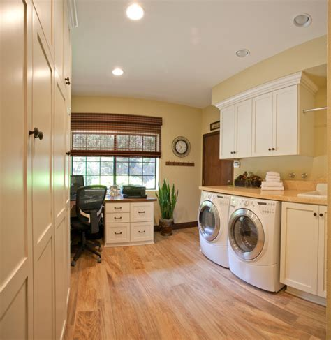 laundry office laundry room home office transitional utility room