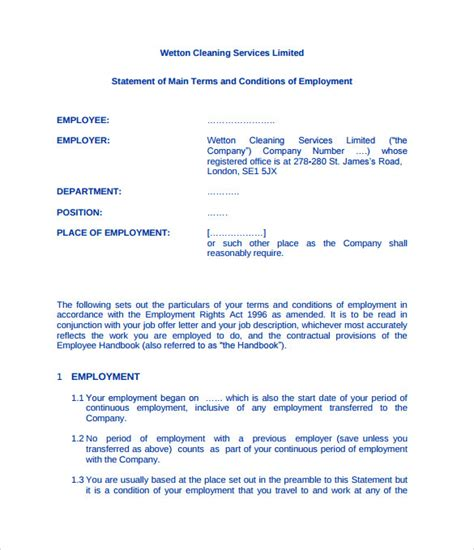 cleaning contract template free cleaning contract template 9 documents in pdf