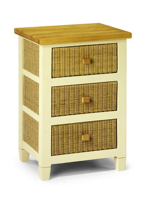 Wicker Kitchen Furniture Painted Kitchen Furniture 3 Drawer Storage Unit Wicker Pine Top