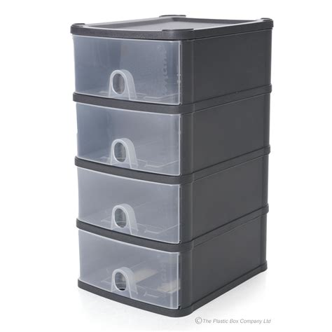 Plastic Drawer by Wham Handy Plastic Stackable Four 4 Drawer Unit A5 Paper