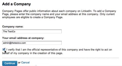 Company Email Address Lookup How To Set Up A Linkedin Company Page Social Business