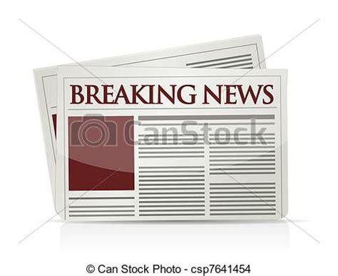 newspaper layout clipart eps vector of breaking news illustration design breaking