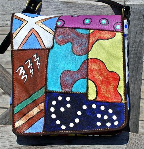 artist bag pattern art happy patterns leather handbag purse from exhibit