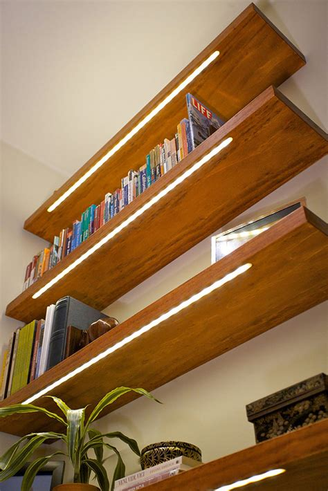 Shelf Lighting Strips by Nearly Invisible Shelf Lighting Diode Led
