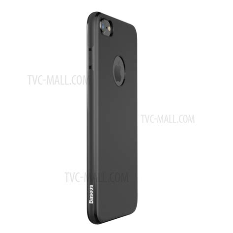 baseus mystery matte tpu cover for iphone 7 4 7 built in magnetic iron sheet black tvc