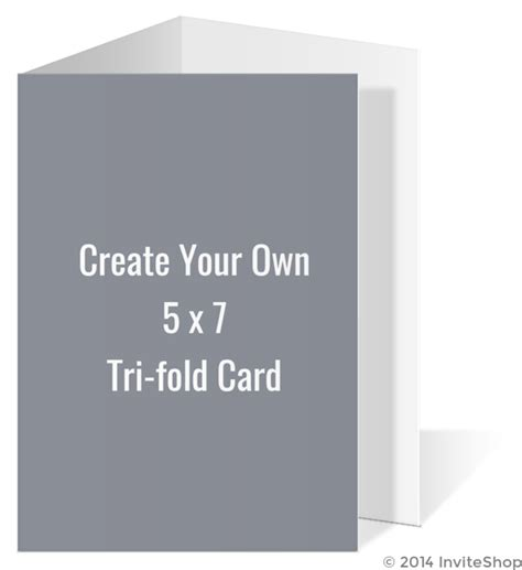 Create Your Own 5x7 Tri Fold Card Create Your Own Templates 5x7 Tri Fold Template