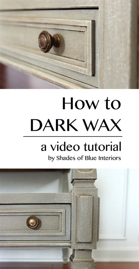 how to get wax out of a couch video tutorial how to use dark wax