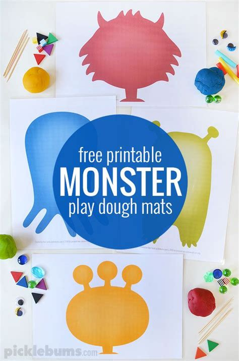 printable playdough mats monster play dough mats free printable play dough mats